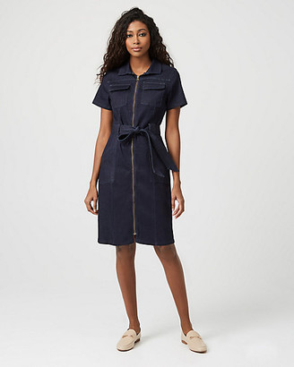 Le Château Denim Zip Front Dress