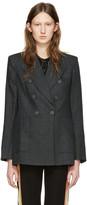 Etoile Isabel Marant Green Linen Check Janey Blazer