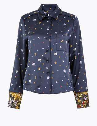 Per Una Per UnaMarks and Spencer Floral Pyjama Style Blouse