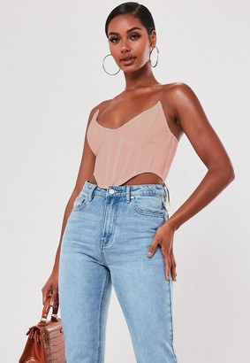 Missguided Blush High Bust Point Corset Bralette