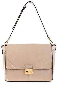 Fendi Women's Large Kan U Leather Shoulder Bag