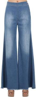 Milly Shaft Jeans WIDE LEG STRETCH DENIM JEANS