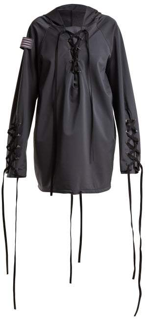 Charli Cohen - Renegade Lace Up Shell Jacket - Womens - Dark Grey