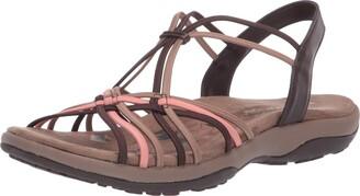 Skechers Women's Reggae Slim-Slip Spliced Sling Back Sandals