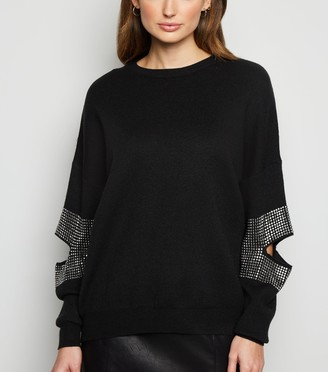 New Look Blue Vanilla Elbow Gem Jumper