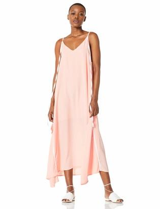Elise Bloom Women's Boho V-Neck Spaghetti Strap Maxi Dress Baggy Sleeveless Beach Long Casual Dress Black Large