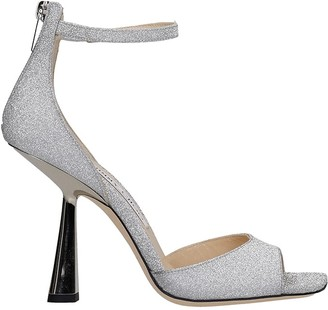 Jimmy Choo Reon 100 Sandals In Silver Leather