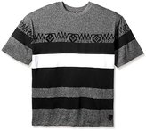 Southpole Men's Big-Tall Short Sleeve T-Shirt Marled Cut and Sewn with Accent Patterns