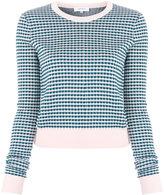 Carven Vichy Jacquard sweater