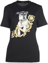 Versace Audrey Printed Cotton-jersey T-shirt