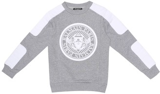 Balmain Kids Appliqued Cotton-Jersey Sweatshirt