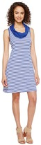 Three Dots Mykonos Stripes Cowl Neck Dress Women's Dress