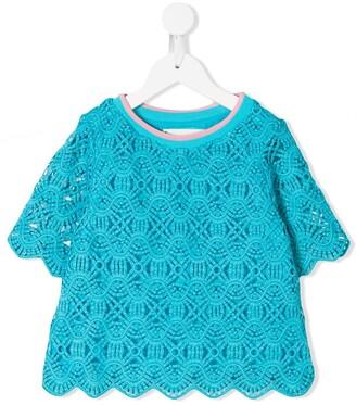 Alberta Ferretti Kids crochet T-shirt