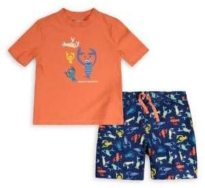 Tommy Bahama Baby Boy's 2-Piece Rashguard and Printed Swim Trunks Set
