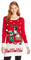 Blizzard Bay Juniors Elf and Reindeer with Sunglasses Christmas Pullover