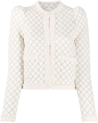 Sandro Paris Amy checked tweed jacket