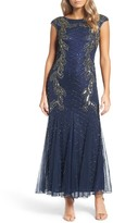 Pisarro Nights Flame Motif Embellished Gown