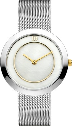 Danish Designs Danish Design Women's Quartz Watch with Mother of Pearl Dial Analogue Display and Silver Stainless Steel Bracelet DZ120225