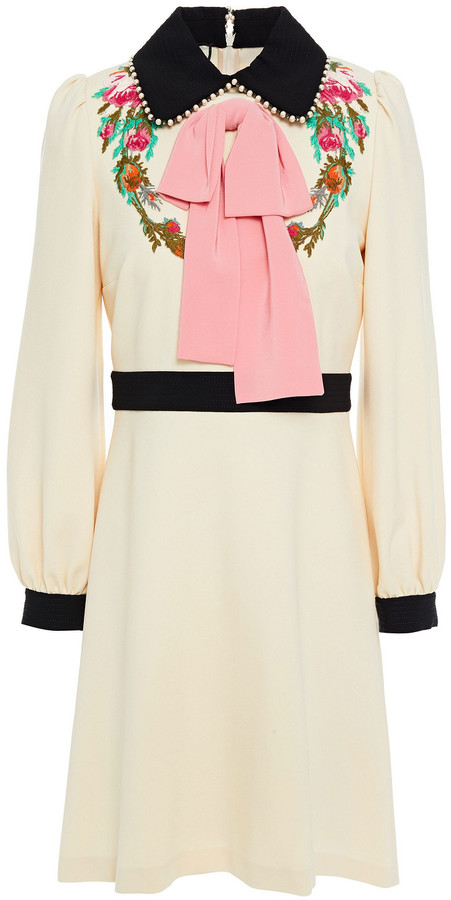 Gucci Pussy-bow Embellished Ponte Dress