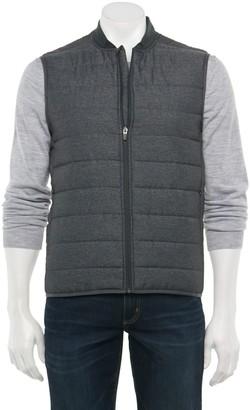 Marc Anthony Men's Modern-Fit Lightweight Bomber-Collar Vest