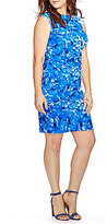 Lauren Ralph Lauren Plus Floral Printed Matte Jersey Dress