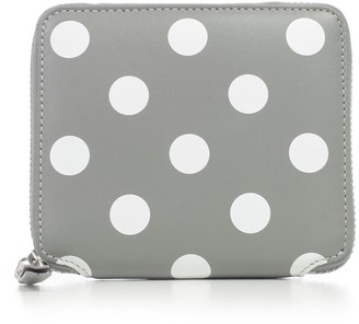 Comme des Garcons Wallet Medium Dots Printed Leather Line