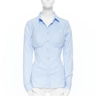 La Perla Blue Cotton Top for Women