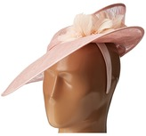 """San Diego Hat Company DRS1014 Derby 1"""" Headband Twisted Brim Sinamay Fascinator Hat"""