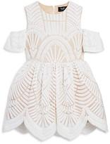 Bardot Junior Girls' Cold Shoulder Deco Lace Dress - Little Kid