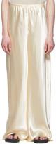 The Row Off-White Satin Gala Pants
