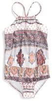Seafolly Toddler Girl's Moroccan Paisley One-Piece Swimsuit