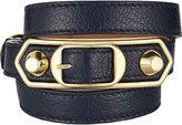 Balenciaga Women's Metallic Edge Wrap Bracelet-NAVY