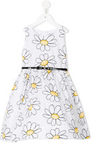 MonnaLisa daisy print dress - kids - Cotton/Polyamide - 4 yrs
