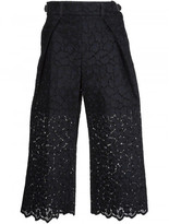 Sacai guipure lace cropped trousers