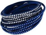 Swarovski Slake 5142964 Crystals on Blue Alcantara Bracelet