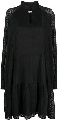 Lala Berlin Kufiya embroidered long sleeve dress