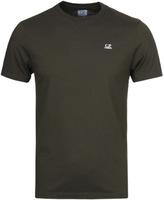 Cp Company Olive Hood Printed Short Sleeve T-shirt