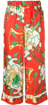 P.A.R.O.S.H. Printed Cropped Trousers