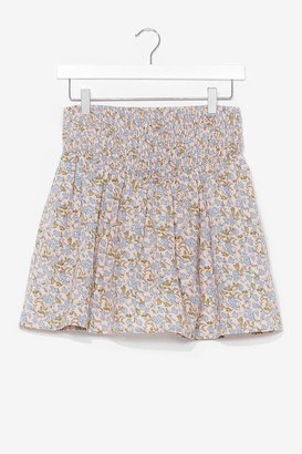 Nasty Gal Womens Summer Lovin' Floral Mini Skirt - White - 6