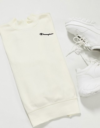 Champion cowl neck sweatshirt in white
