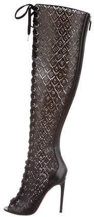 Giambattista Valli Leather Over-The-Knee Boots