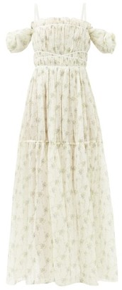 Brock Collection Ramage Floral-print Silk Gown - Cream Multi