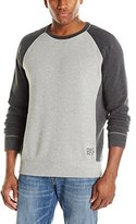 DKNY Men's Long Sleeve Flatback Rib Three Color Black Crew Neck Knit