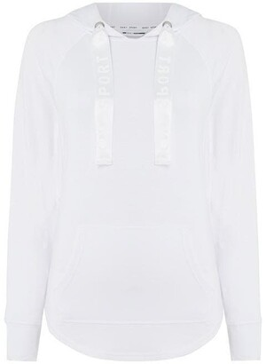 DKNY Sport Satin Cord Hooded Pull Over