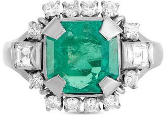 Heritage Platinum 3.43 Ct. Tw. Diamond & Emerald Ring