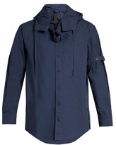 Craig Green Belted long-sleeved cotton-poplin shirt