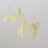 Style Me Pretty Chair Signs Our Day Set of 2