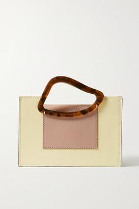 NATURAE SACRA Arp Mini Two-tone Leather And Resin Tote - Cream