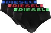 Diesel Underwear Andre 3 Pack Briefs Black