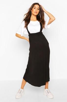 boohoo Maternity Pinafore Midi Skirt
